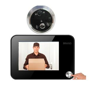 3.5 Inch LCD video door viewer with motion detection, night vistion, taking picture, 6 language function