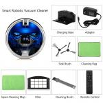 Mobile phone remote controlled smart vacuum cleaner With built-in Camera in Blue color