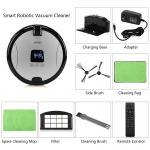Mobile phone remote controlled smart vacuum cleaner With built-in Camera in Silver color